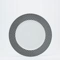 Royal Limoges Recamier - Diamonds Black Dinner plate