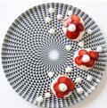 Royal Limoges Recamier - Diamonds Black Round cake platter