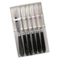 Capdeco Diana black Set of 6 Steak Knives