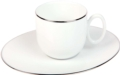 Deshoulieres Epure platinum filet Coffee cup & saucer