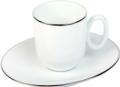 Deshoulieres Epure platinum filet Moka cup & saucer