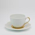 Royal Limoges Nymphea - Fleur't (Flirt) Matte Gold Tea cup