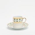Royal Limoges Recamier - La Bocca green Coffee cup