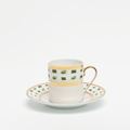 Royal Limoges Recamier - La Bocca green Coffee saucer