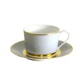 Royal Limoges Recamier - MAK grey/gold Tea cup