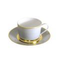 Royal Limoges Recamier - MAK grey/gold Tea saucer