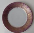 Royal Limoges Recamier - Oasis purple Dessert plate 8.5