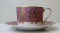 Royal Limoges Recamier - Oasis purple Tea cup