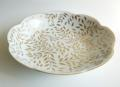 Royal Limoges Nymphea - Olivier Gold Round deep platter