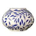 Royal Limoges Nymphea - Olivier blue Vase round - large
