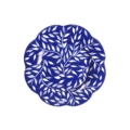 Royal Limoges Nymphea - Olivier blue all over Dessert/accent plate