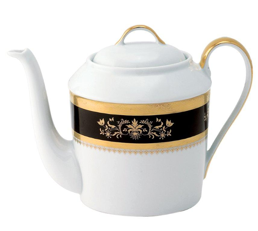 Deshoulieres Orsay black Tea Pot