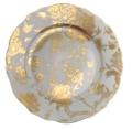 Deshoulieres Jardin Secret Grey & Gold accent plate