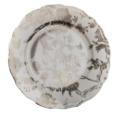 $145.00 White & Platinum accent plate