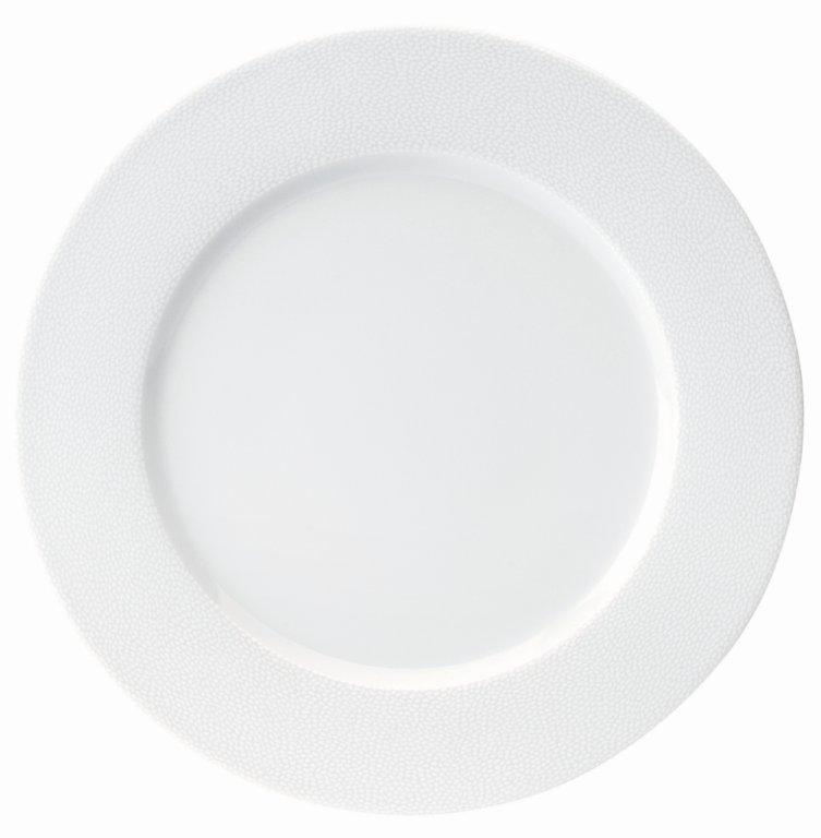 Deshoulieres Seychelles white Dinner Plate Large Rim