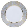 Royal Limoges Recamier - TWEED GREY&GOLD Dinner Plate