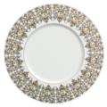 Deshoulieres Tuileries white Dinner plate