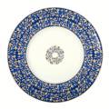 Blue dessert plate image