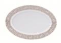 Deshoulieres Vignes White oval platter
