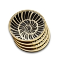 L'Objet Coasters Seashell Coasters - Set of 4