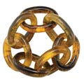 Bodrum Chain Link Tortoise Napkin Ring - Pack of 4