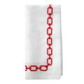 117 Red Embroidered Napkins set of 4