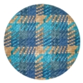 "Bodrum Nantucket Blue Turquoise 15"" Round Mat"