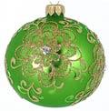 Badash Holiday Ornaments 4 Pcs Lt Green 3.25
