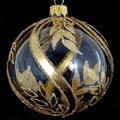 Badash Holiday Ornaments 4 Pcs Gold/Clear 4