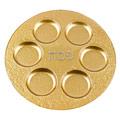 "Badash Glass Metallica Handcrafted Gold Decor 13"" Glass Seder Plate"