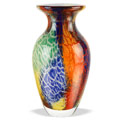 "Badash Firestorm Firestorm Art Glass 11"" Vase"