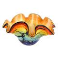 "Badash Allura Murano Style Art Glass Allura Murano Style Art Glass Floppy 15"" Centerpiece Bowl"