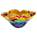Badash Allura Murano Style Art Glass Allura Murano Style Art Glass Floppy 8.5-inch Centerpiece Bowl