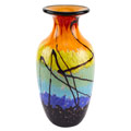 Badash Allura Murano Style Art Glass Allura Murano Style Art Glass Urn Shape 10.5 inch Vase