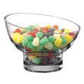 Badash Lexington Kira Lead Free Mouth Blown Slant Cut Candy Bowl D6 in.