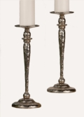 $62.00 HAMMERED NICKEL PILLAR CANDLESTICK