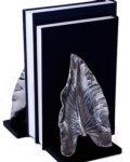 $75.00 LEAF NICKEL BOOKENDS PR.