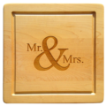 $88.00 SQUARE MR & MRS WOODEN BOARD