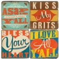 $54.00 SOUTHERN SAYING COASTERS W/ STAND