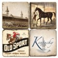 $54.00 KY DERBY COASTERS W/ IRON STAND