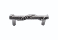 Buck Snort Lodge Textured & Tied Wrapped Textured & Tied 3-In Center to Center Satin Nickel Cabinet Pull