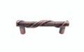 Buck Snort Lodge Textured & Tied Wrapped Textured & Tied 3-In Center to Center Satin Copper Ox Cabinet Pull