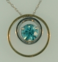 $1,225.00 1.61ct Blue Zircon Pendant