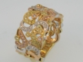 Burton Custom Jewelry Diamond Fashion Ring Tri Tone Diamonds and Gold