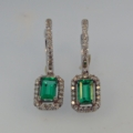 $4,275.00 1.03tcw Genuine Emeralds with 0.33tcw Fancy Cut Diamonds in 18kw