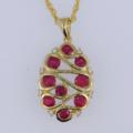 $1,315.00 0.70tcw Genuine Ruby with 0.05tcw Diamonds in 14ky Chain Included