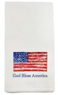 French Graffiti God Bless America Dish Towel