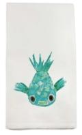 French Graffiti Puffer Fish Dish Towel