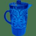 38 Fleur Blue Pitcher