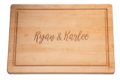 """Maple Leaf at Home Personalized 20"""" Rectangle Maple Cutting Board"""